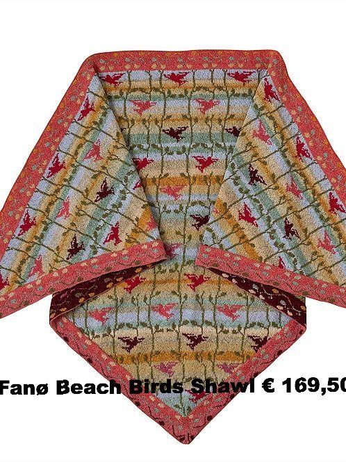 Fano Beach Birds Shawl
